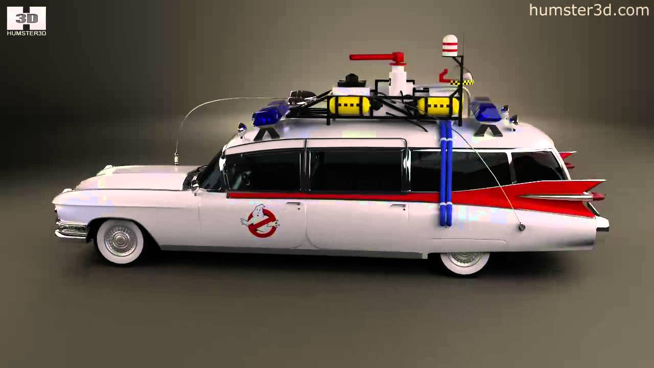 cadillac miller meteor ghostbusters ectomobile 1984 by 3d. Black Bedroom Furniture Sets. Home Design Ideas
