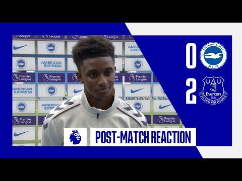 BRIGHTON 0-2 EVERTON |  DEMARAI GRAY'S REACTION