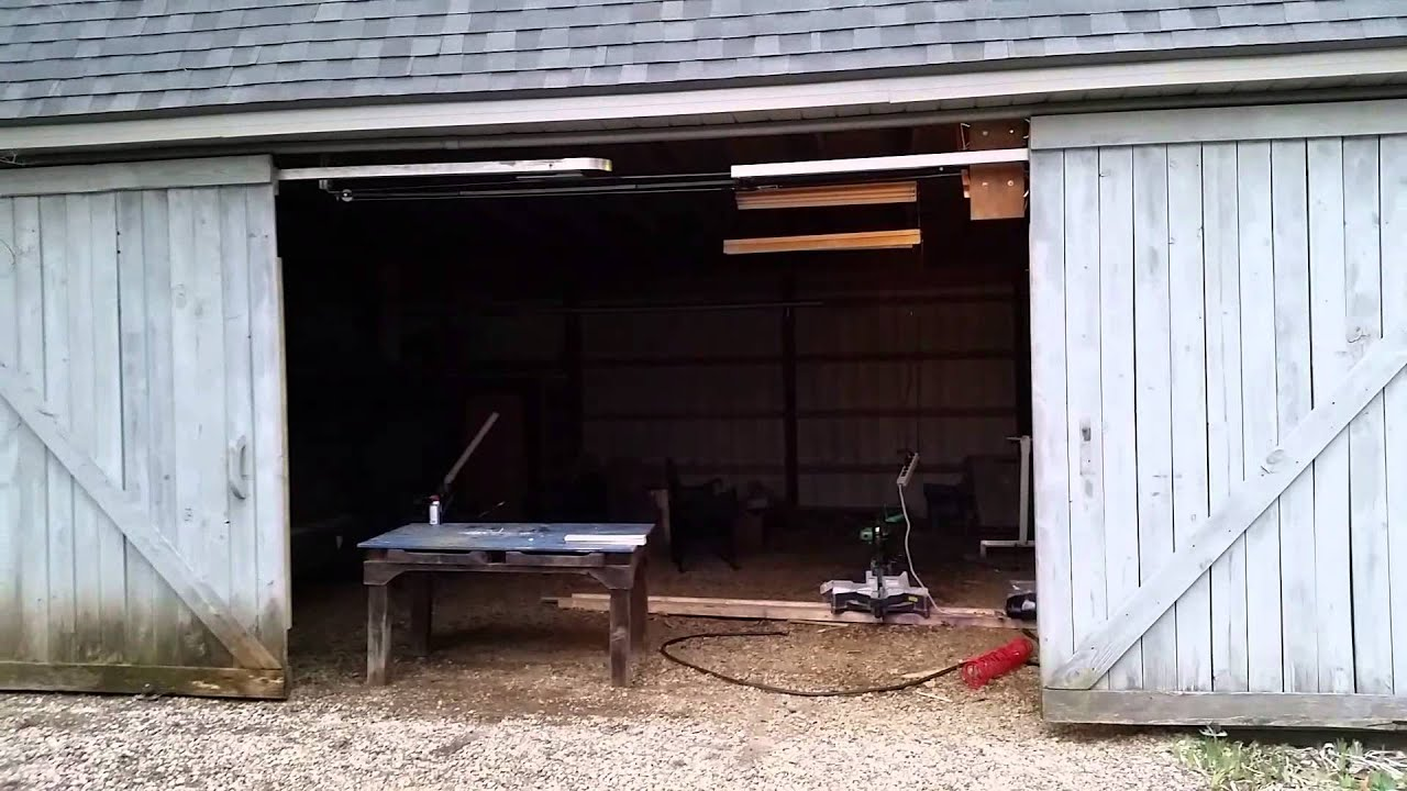 Automatic Sliding Barn Door Youtube