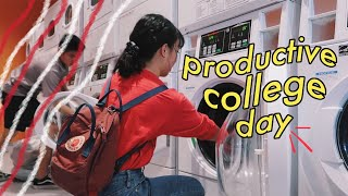 a productive college day ( vlog ) / i
