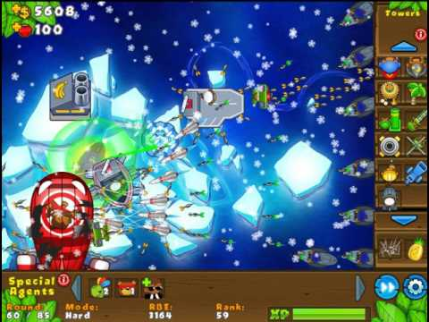 Bloons Tower Defense 5 Ice Flow Hard Rounds 1-85 No Lives Lost NAPS