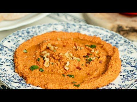 Muhammara: Roasted Red Pepper & Walnut Dip