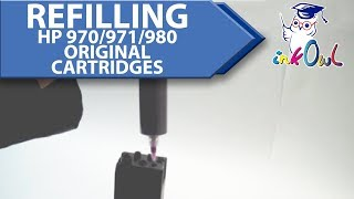 How to Refill HP 970, 970XL, 971, 971XL, 980 Ink Cartridges