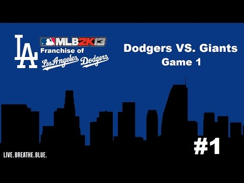 Let's Play - MLB 2K13: Franchise of the Los Angeles Dodgers - Opening Day 2013 (Part 1)