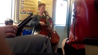 Amazing Cello on Bart (raw)