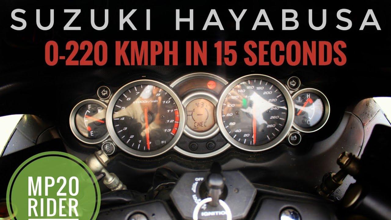 Suzuki Hayabusa || 0-220 KMPH in 15 Seconds