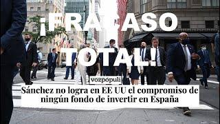 ¡SÁNCHEZ SE ESTRELLA CON LOS INVERSORES!