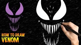 How to draw Venom - Easy step-by-step drawing lessons for kids