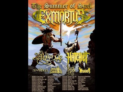 """Exmortus tour announced w/ Hatchet/The Absence and new album """"The Sound Of Steel""""..!"""