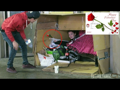 SURPRISING HOMELESS W/ VALENTINE GIFTS!
