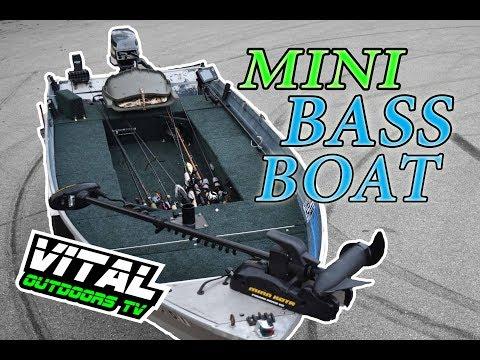 Coolest MINI Bass Boat Tour