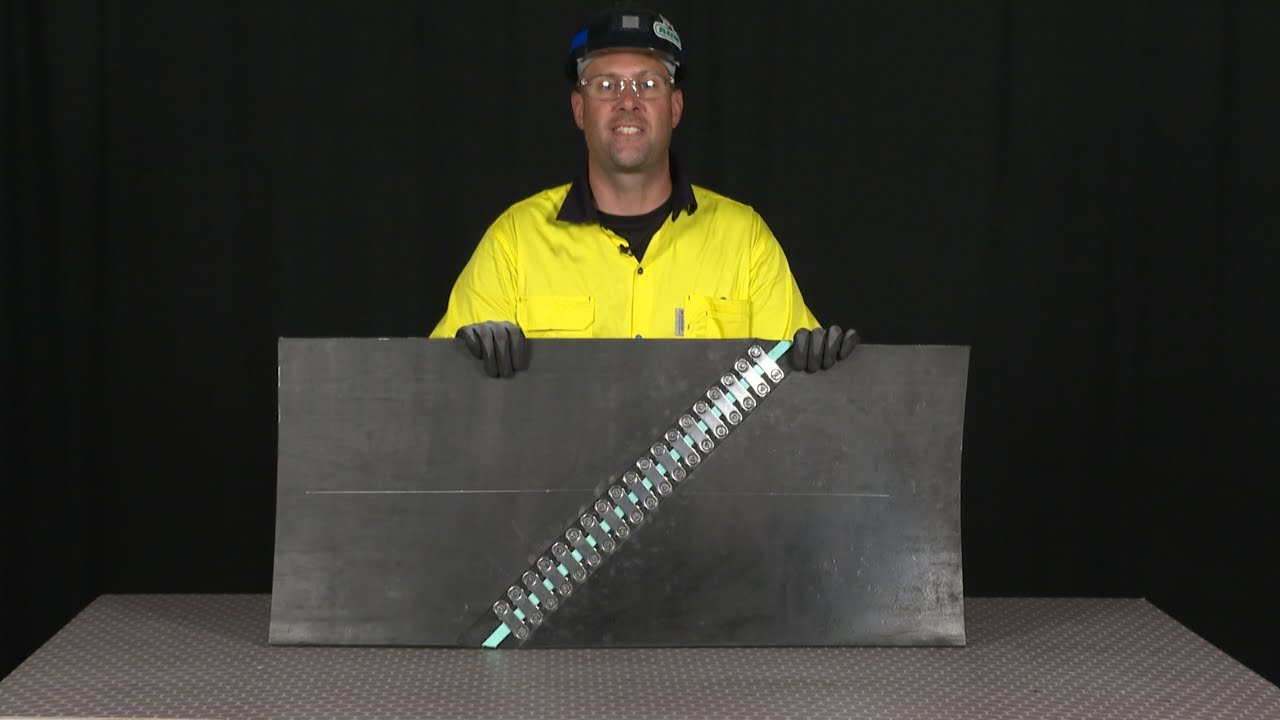 45 Degree Flexco® Bolt Solid Plate Fastener Installation