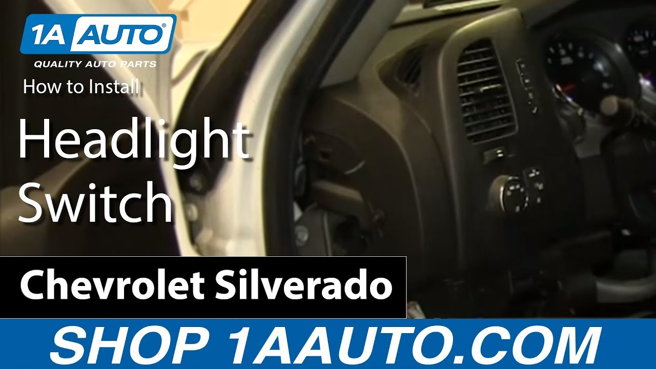 How To Install Replace Headlight Switch 2007 15 Silverado Sierra Dial Dimmer Wiring Diagram Tahoe Yukon Suburban