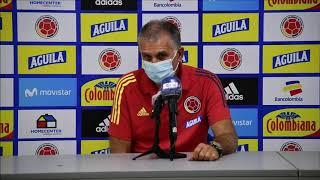 RUEDA DE PRENSA CARLOS QUEIROZ POST PARTIDO COLOMBIA VS. VENEZUELA