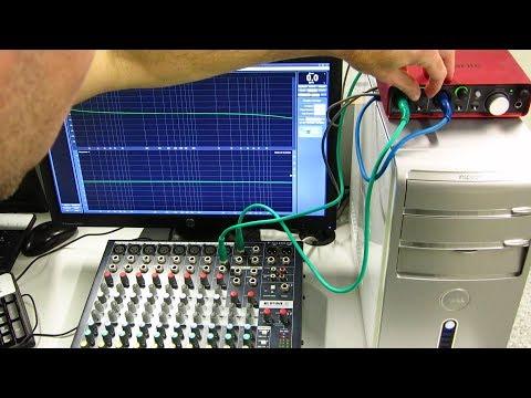 TUTORIAL SMAART - 10. PRÁCTICA - Medición de una mesa analógica con la tarjeta SCARLETT 2i2