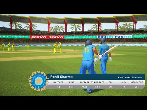 India vs Australia - 1st ODI Match - Don Bradman Cricket 17