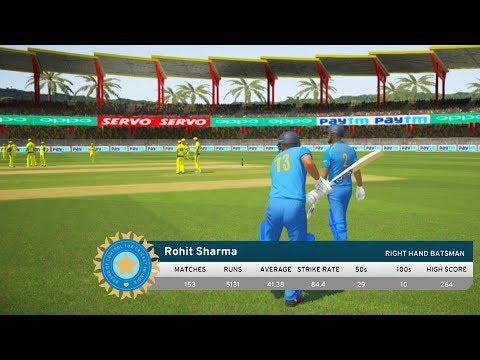 India vs Australia - 1st ODI Match - Don Bradman Cricket 17 thumbnail