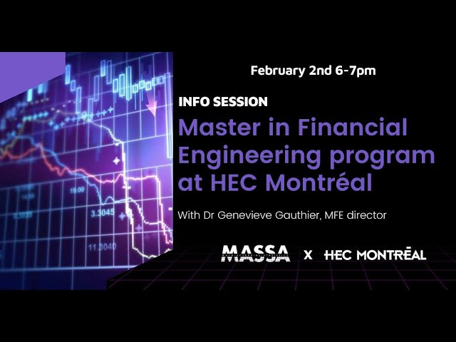 MASSA Info Session: Master in Financial Engineering at HEC Montreal