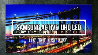 Samsung Launches the World's first Active LED for Home in India 110 130 220 260 inch tv #Reviews