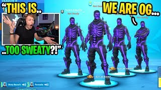 We accidentally joined a SCRIM game with only PURPLE SKULL TROOPERS... (super sweaty)