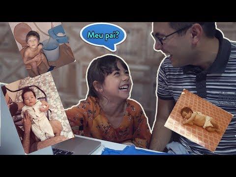 Reagindo a fotos antigas do papai