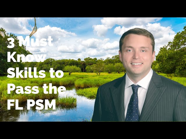 Three Must-Know Skills to Pass the Florida Professional Surveyors and Mappers (FL PSM) Surveyor Exam