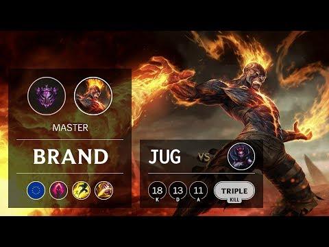 Brand Jungle vs Elise - EUW Master Patch 9.19