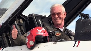 """Sully"" Sullenberger Flies with the Thunderbirds"