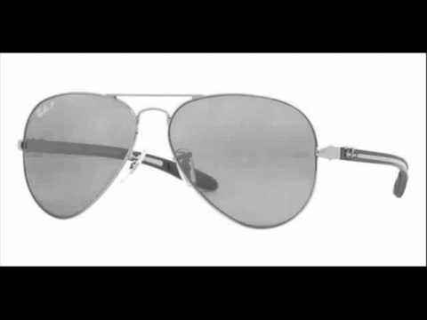 4da07d987bf Ray Ban Aviator Polarized Gunmetal RB 8307 004 N8 Sunglasses - YouTube