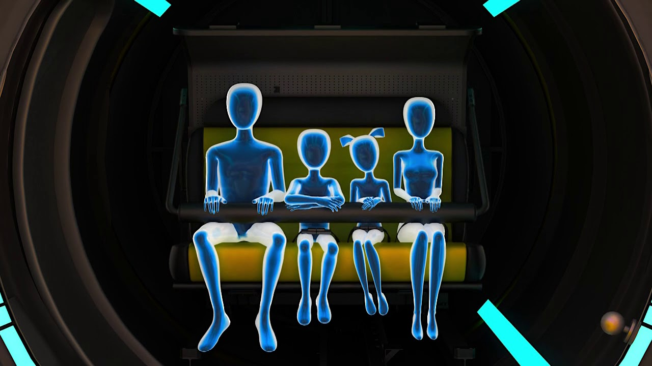 Attractive immersive 3D dome cinema with four seats, family 3d cinema