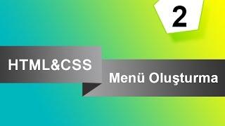 HTML & CSS ile Dikey Menü Yapımı