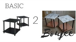 Basic2Boujee Series| Marble and Rose Gold End Tables