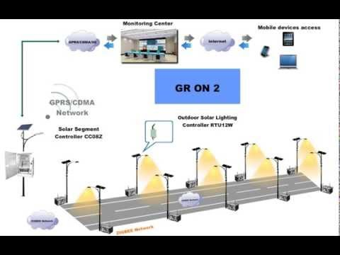 how to connect solar street light