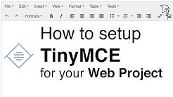 How to setup TinyMCE | TinyMCE #01