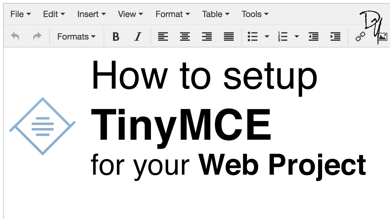 How to setup TinyMCE text editor - TinyMCE - DYclassroom | Have fun