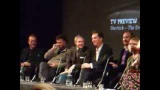 the very end of the sherlock q at bfi