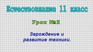 Естествознание 11 класс (Урок№2 - Зарождение и развитие техники.)
