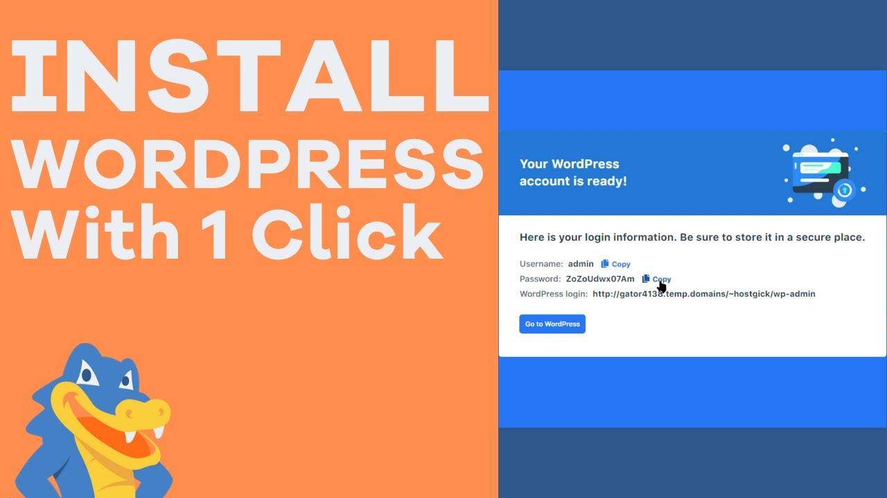 How to Easily Install WordPress With 1 Click - HostGator Tutorial - YouTube