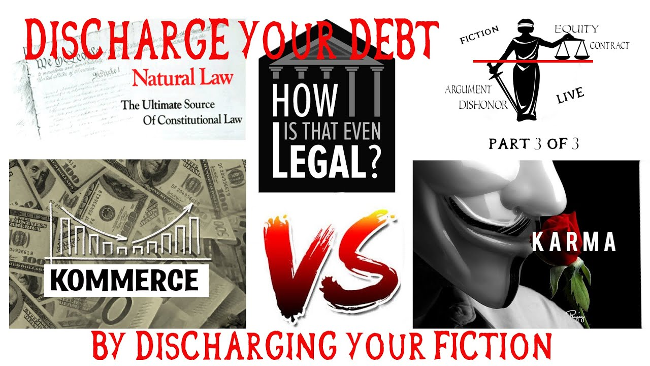 Kommerce Vs Karma Pt3: Discharge your debts by discharging your Fiction