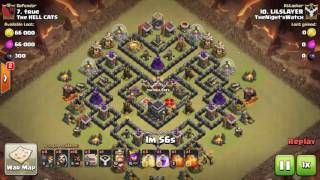 Clash of Clans TH9 Stoned Hobo versus War Weight 64 and 66 - Slayer 12-23-2016