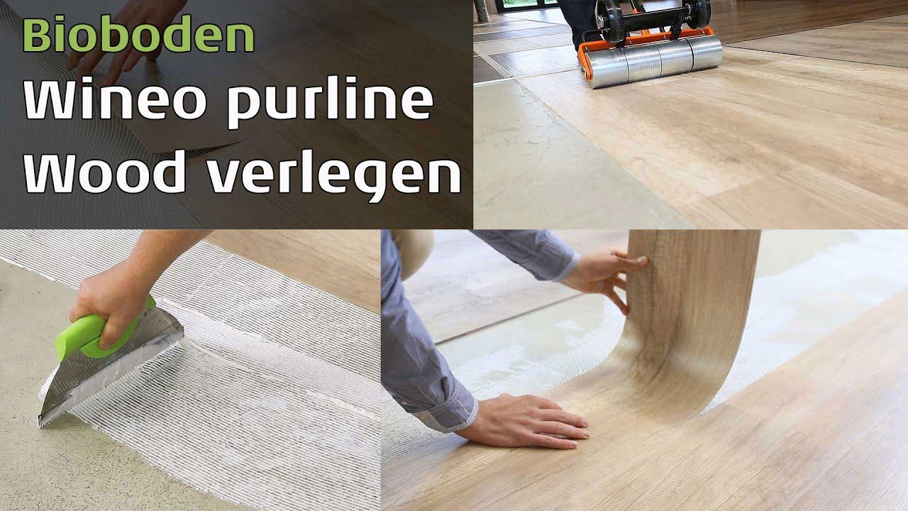 wineo purline wood bioboden verlegen youtube. Black Bedroom Furniture Sets. Home Design Ideas