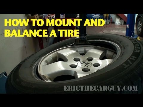 How To Mount And Balance A Tire Ericthecarguy Youtube