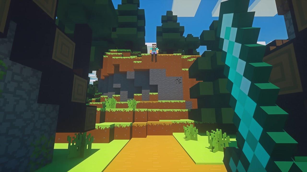 GeorgeNotFound kills Dream with an anvil (Minecraft animation) - Octane render 1440p/60fps
