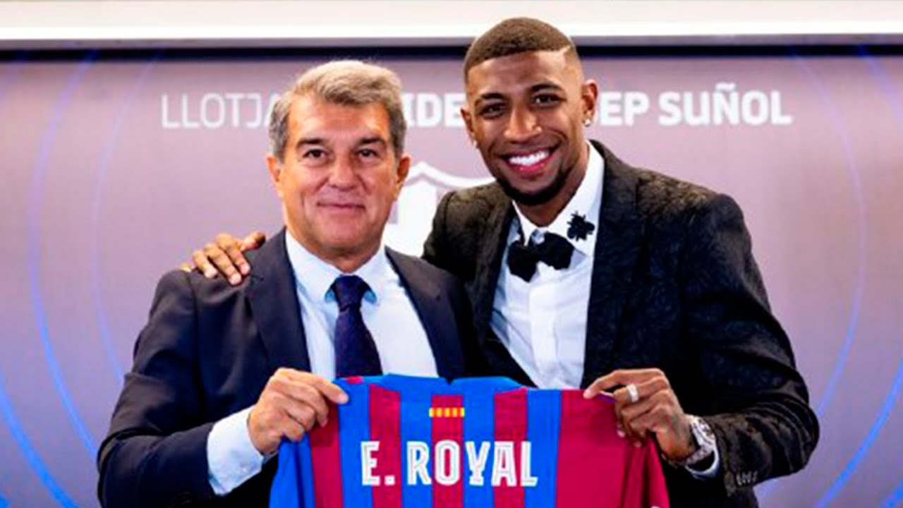 EMERSON ROYAL''s OFFICIAL PRESENTATION AS A BARÇA PLAYER from CAMP NOU (FULL LIVESTREAM)