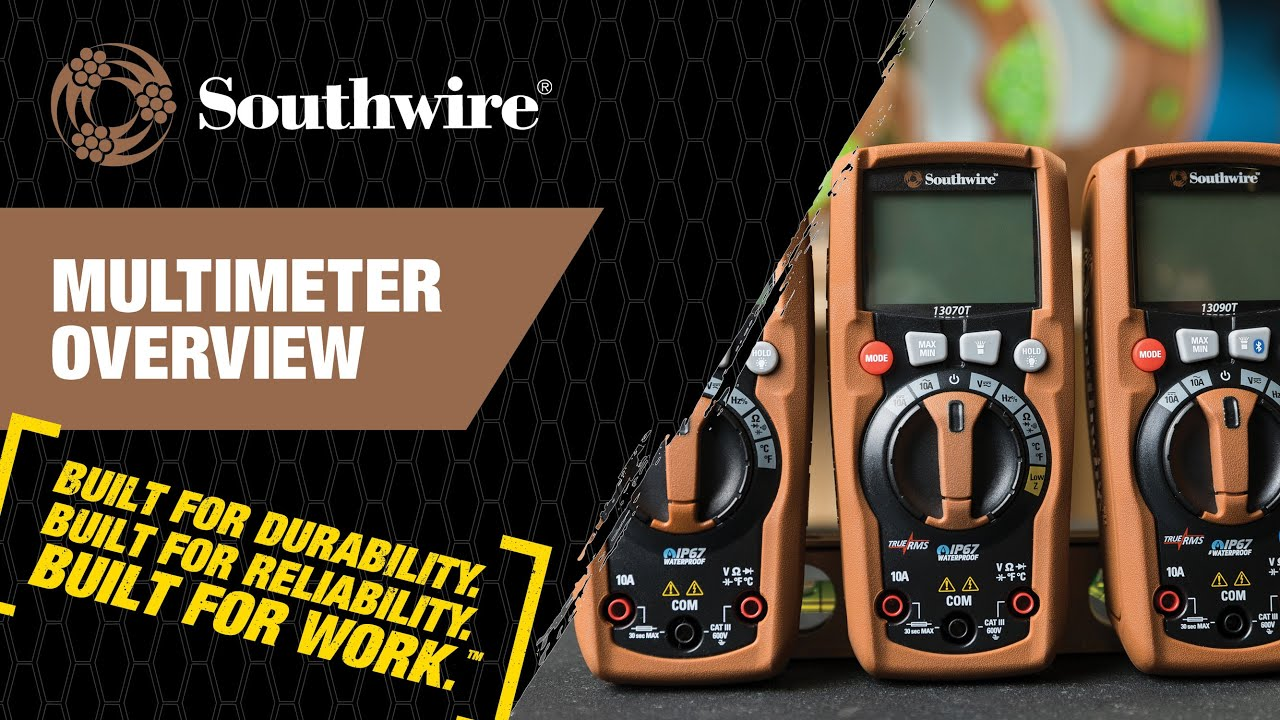 Southwire Multimeter Overview Youtube Wire Harness Continuity Testers
