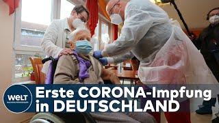 Die bisher größte impfkampagne in deutschland hat früher begonnen als geplant. einem seniorenzentrum halberstadt sachsen-anhalt wurden am samstag di...