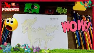 How to Draw Ponyta Step by Step Pokemon Characters Anime cartoon for kids
