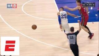 Goran Dragic hits Ben Simmons upside the head during Game 5 of Heat vs. 76ers | ESPN thumbnail