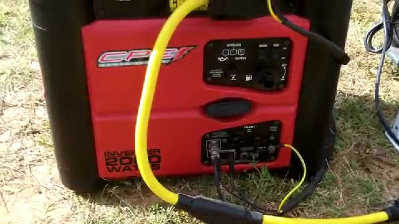Champion 2000 Watt Inverter Generators Running Parallel Youtube
