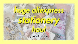 huge aliexpress stationery haul #1 | stickers, washis, memos..